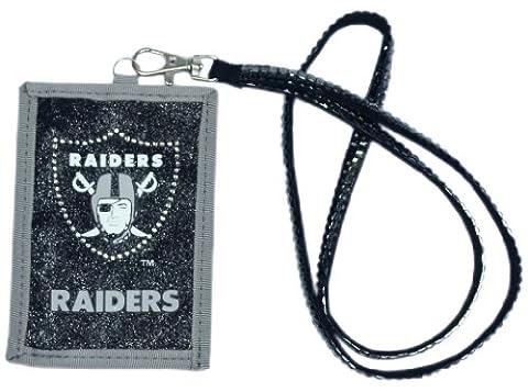 Oakland Raiders Beaded Lanyard Wallet