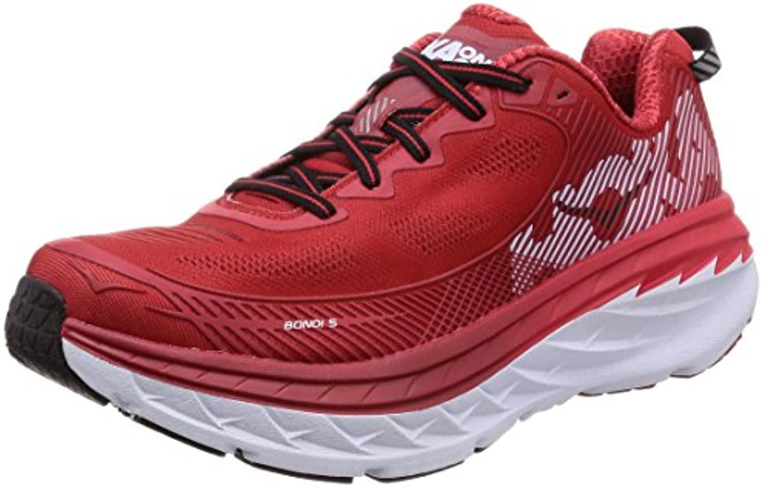 Hoka One One Bondi 5 Herren SCHUE Running  Red (High Risk/Haute Red) 41 1/3 EU