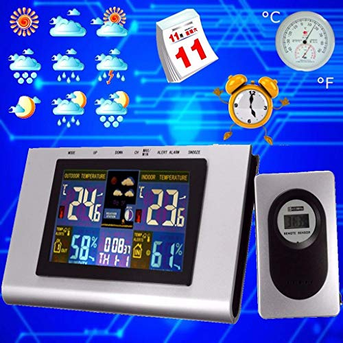 TFXHGGM Digitales LCD Funk-Thermometer für Innen- und Außenwetterstation mit Flüssigkristallanzeige