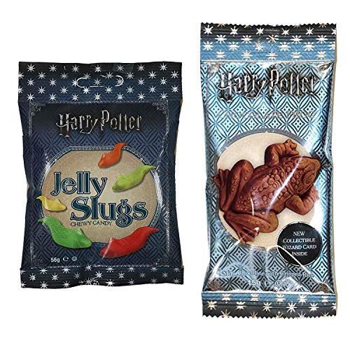 Jelly Belly Harry Potter Schokoladen Frosch (15 g) und Jelly Slugs (59 g)