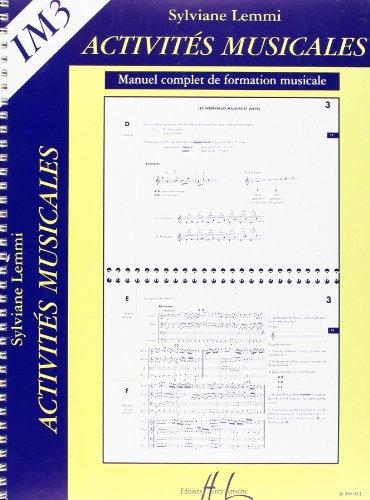Activités Musicales IM3. Manuel de form...