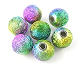 50 X Multi Coloured Acrylic Stardust Beads 8 mm