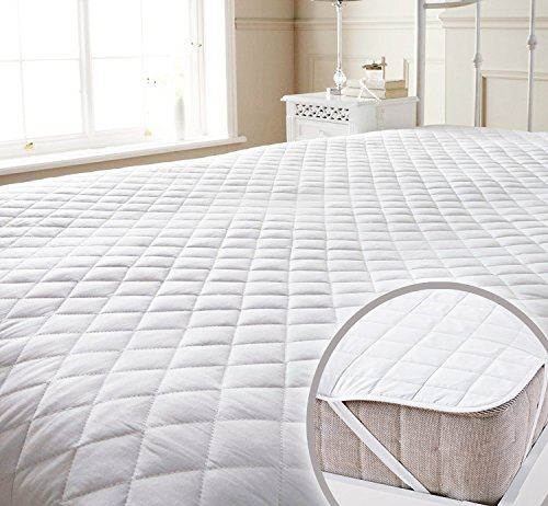 Story@Home Premium Water Resistant Hypoallergenic Cotton Mattress Protector - King...