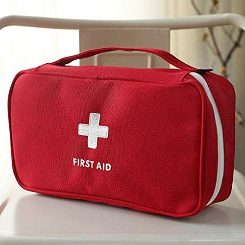 Ff-kasten (Forfar tragbar Leer Zuerst Erste-Hilfe Kasten Pouch Home Office Medizinischer Notfall Reisen Rettungsfall Tasche)