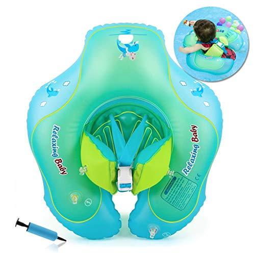 Flotador de Natación para Bebés con Asiento Anillo,Bebé Recién Nacido Aprende a Nadar Entrenador Inflable Flotador Ajustable para Piscinas para Bebés,Anillo de Natación para Bebés(3-12 Meses,S)