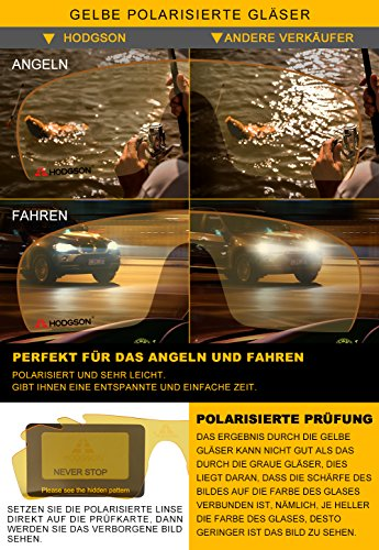 HODGSON Fahrradbrille Sport Sonnenbrille für Herren und Damen Polarisierte, Sportbrille mit 5 Wechselobjektiven und Radsports, Baseball, Laufen, Tr90-Rot … - 3