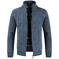 Btruely Jacke Herren Winter Strickjacke Warm Outwear Männer Mantel Outdoor Stehkragen Pullover Große Größe Freizeitjacke