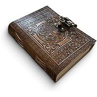 DreamKeeper Diario de Cuero Hecho a Mano - Cuaderno de Viaje Céltico - Diseño Antiguo Original del Árbol de la Vida - Papel Algodón Reciclado de Khadda - Ideal Para Regalar O Compartir tus Aventuras