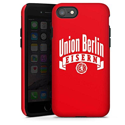 Apple iPhone 7 Tasche Hülle Flip Case 1. FC Union Berlin Fanartikel Fußball Tough Case glänzend