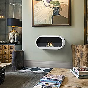 Imagin Bio-Ethanol Fireplace - Marlow White