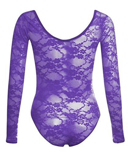 Xclusive Plus -  Maglia a manica lunga  - Felpa - Floreale - Maniche lunghe  - Donna Purple