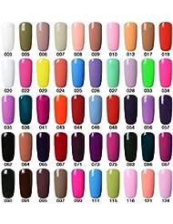 Vishine Choose Any 10 Colours Gel Nail Polish Soak Off Manicure Top Base Coat 10pcs X