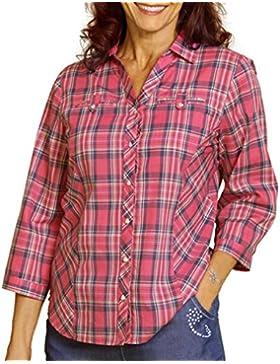 TopsandDresses - Camisas - Cuadrados - manga 3/4 - para mujer