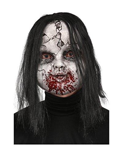 Broken Doll Zombie-Maske für Halloween & (Masken Doll)