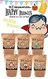 6x Halloween Geschenktüten / Papiertüten Tüten liebevoll bedruckt aus Kraftpapier, zum Verpacken von Süßigkeiten, Gastgeschenken, Mitgebsel, Giveaways, Kindergeburtstag, Dekoration, 100% recyclebar!