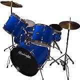 Schlagzeug Set komplett + Ständer, Becken, Hocker, blau