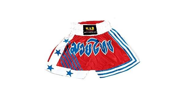 M.A.R International Ltd Kick Boxen /& Thai Boxing Shorts Kickboxen Hose MMA Hose Boxen Kleidung Muay Thai K1/GEAR Polyester Satin Stoff Rot