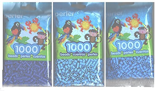 Perler Bead Bag, Group (Dark Blue, Light Blue, Pastel Blue) by Perler -
