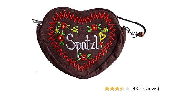 6 Farben Lebkuchenherz Design XL Spatzl Dirndltasche Trachtentasche Herz