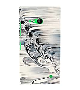 Fiobs Designer Back Case Cover for Nokia Lumia 730 Dual SIM :: Nokia Lumia 730 Dual SIM RM-1040 (Sea Waves Wavy Nature Patterns Design Stylish)