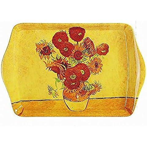 Girasoli in melamina piccolo snack vassoio raccogli briciole Leonardo