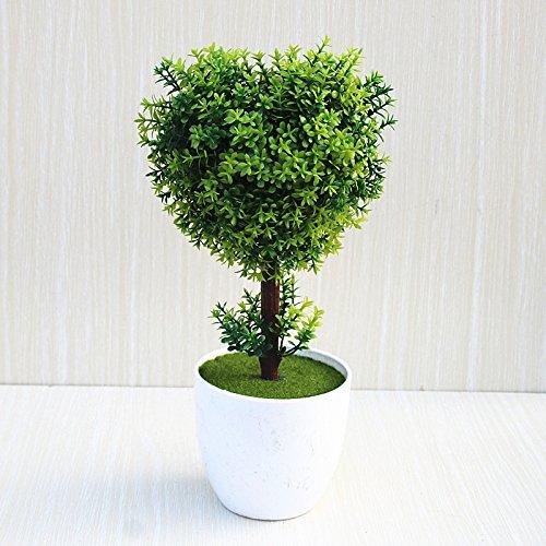 SYHOME Künstliche Blumen Pflanzen getrocknete Blumen Topfpflanzen s Indoor Office Dekor Grün s