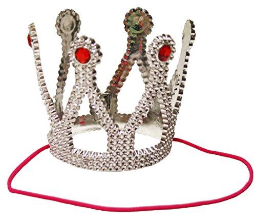 Krone in silber für König Kostüm und Prinz Kostüm Zubehör (Erwachsenen Märchen Prinz Kostüme)