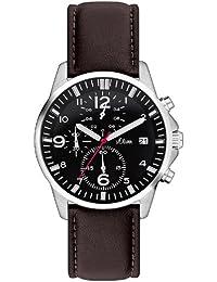 s.Oliver Herren-Armbanduhr XL Analog Quarz Leder SO-2630-LC