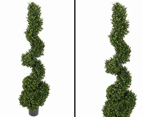 Buchsspiral Kunstbaum für den Außenbereich, mit ca. 2532 Blätter, Höhe 150cm - Kunstbäume Kunstbaum künstliche Bäume Kunstpflanzen Kunstpalmen Dekopalmen