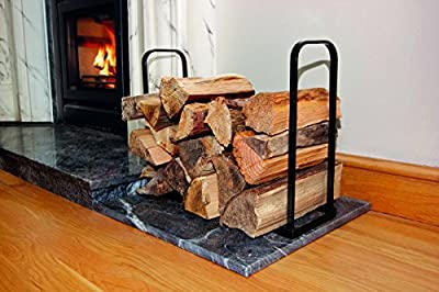 Metal Log Holder Basket Indoor Fireside Firewood Logs Store Storage Bin Stand
