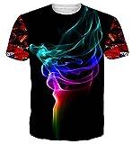 NEWISTAR Unisex 3D Graphic Colourful Ice Cream T Shirts Tee Short Sleeve Shirts