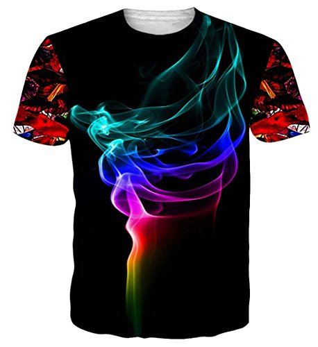 NEWISTAR Unisex Herren Damen Couple 3D Eis T Shirts Tee Short Sleeve Shirts M (Eis Kinder T-shirt)