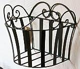 Wandkorb Melanga 012360 Wandkonsole Metall 17 cm Wandregal Blumenständer Grün