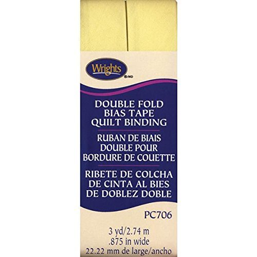Wrights Double Fold Quilt Binding, 7/8 by 3-Yard, Baby Maize by Wright Products -