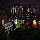 Projektionslampe,FeelGlad Wasserdicht außen Gartenleuchte Spotlicht Dekoration CE zertifiziert für Weihnachten Party Garten (black)
