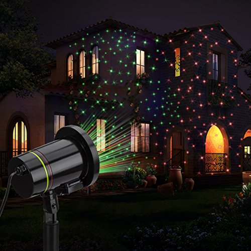 Garden Lights , FeelGlad 2 in 1 Waterproof Starry Outdoor Light for Christmas Party with Remote Controller (Black)