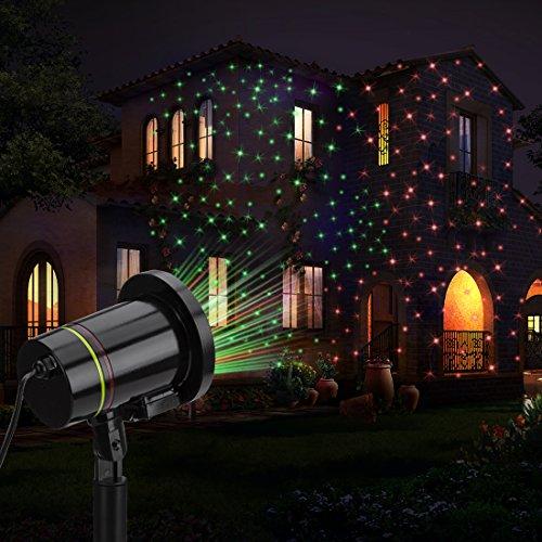 lGlad Wasserdicht außen Gartenleuchte Spotlicht Dekoration CE zertifiziert für Weihnachten Party Garten (black) (Beste Halloween, Das Licht Zeigt Immer)