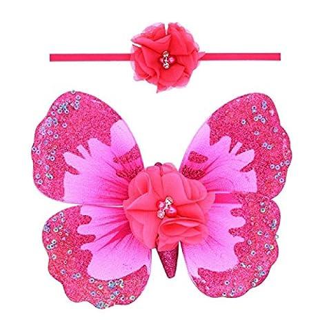 Oyedens Filles Accessoires Pour Cheveux, BéBé Ange Ailes De Papillon Photo Prop (D)