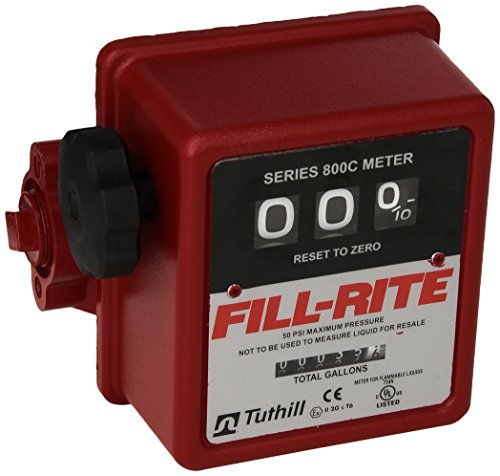 FILL-RITE 807C 3 WHEEL MECHANICAL METER  5 TO 20 GPM