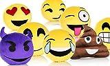 LI&HI Emoji Lachen Emoticon Kissen Polster Dekokissen Stuhlkissen Sitzkissen Rund(Grinsen)
