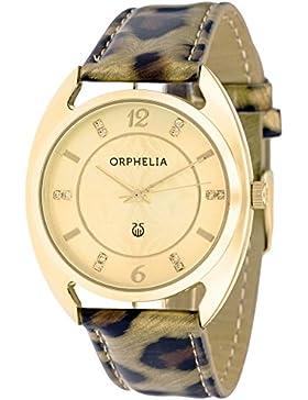 Orphelia Damen-Armbanduhr Analog Quarz Kunstleder