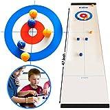 Elite Sportz Table Top Curling Game pour Les familles. C'est Bien Plus Amusant Que Cela l'imagine, Rapide et Facile à configurer et Donc Compact pour Le Stockage ou en Tant Que Jeu de Voyage