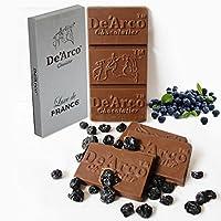 De'Arco Chocolatier GIFT IDEAS FOR SISTER, INTENSE DARK CHOCOLATE BAR, 70% DARK CHOCOLATE WITH BLUEBERRIES, 80G