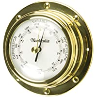 Brass Rivet-Style Barometer, 10 cm