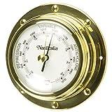 Nauticalia Messing-Barometer, 10 cm, Nieten-Stil, 10 cm
