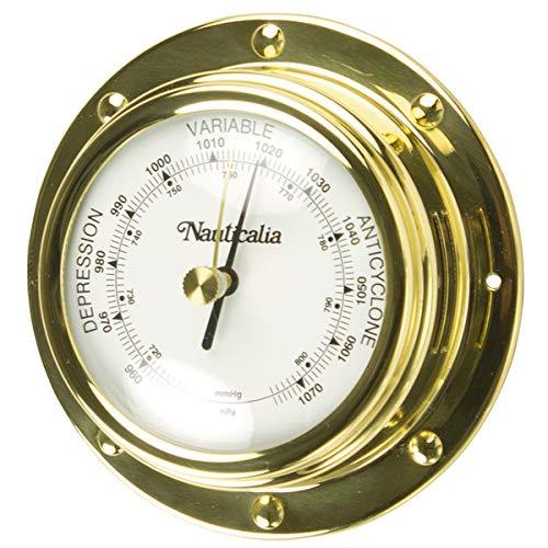 Nauticalia - Barómetro de latón 10 cm, 10 cm