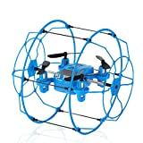ILYO Mini Drone Flugzeug Toys Fernbedienung Drone Wall-Montierte Flugzeuge 2,4 G Fernbedienung Kletterwand Klettern Tumbling Feste Höhe Indoor-Und Outdoor-Flug 6-Achsen Gyros,Blue