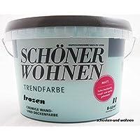 1 L Schöner Wohnen Trendfarbe, cremige Wand- und Deckenfarbe, Frozen Matt