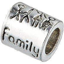 Perlas de cubos de familia cuenta para pulsera