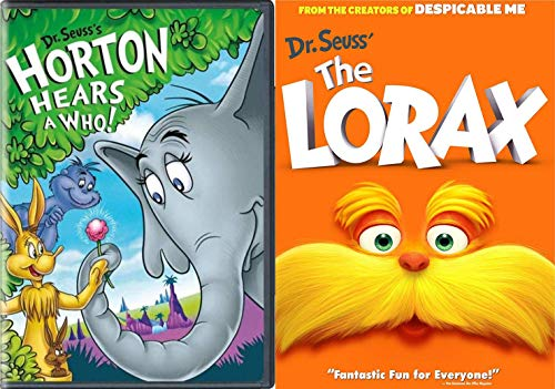 Original Animated Dr. Seuss TV Classic Horton Hears A Who! + The Lorax Cartoons Double Feature DVD Set The imaginative world comes to life